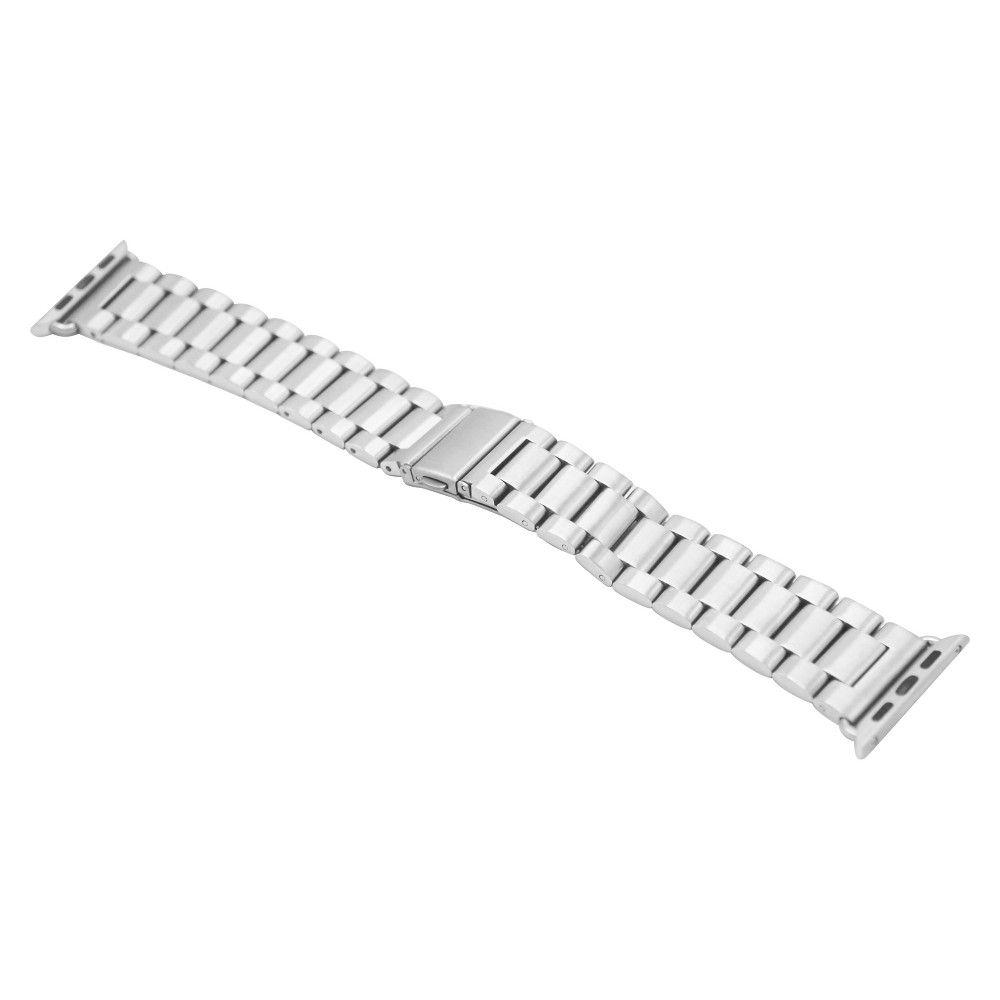 iPM Stainless Steel Metal Replacement Link Strap For Apple Watch 38mm - Silver, Adult Unisex