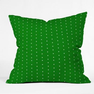 Green Polka Dots Throw Pillow - Deny Designs