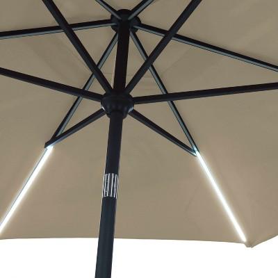 9u0027 Round Solar Patio Umbrella   Threshold™ : Target