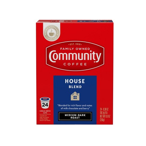 Community Coffee House Blend Medium Roast Coffee - Single Serve Pods - 24ct - image 1 of 4