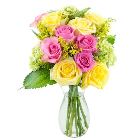 Kabloom Pink Lemonade Fresh Flower Arrangement With Vase Target