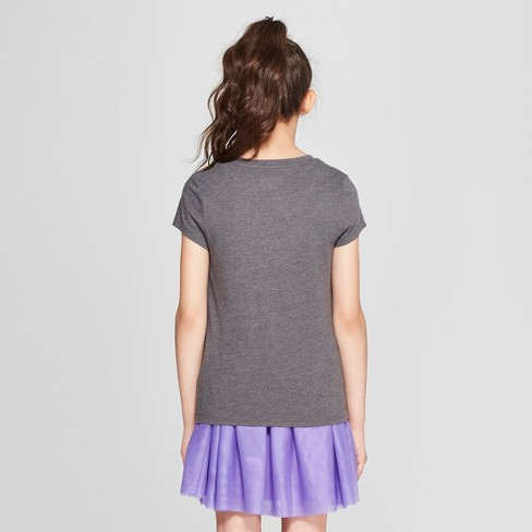 f603e19977d Girls  Short Sleeve T-Shirt - Cat   Jack™   Target