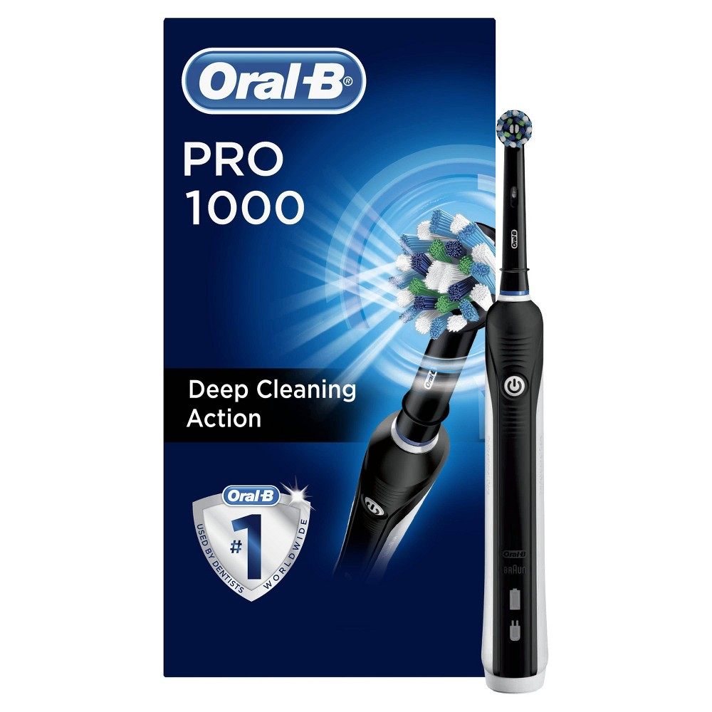 Oral-B Pro 1000 Cross Action Electric Toothbrush Powered by Braun - Black