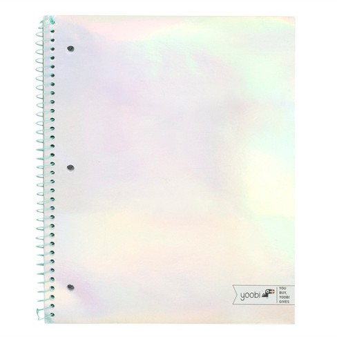 Spiral Notebook 1 Subject College Ruled Iridescent - Yoobi™ - image 1 of 2