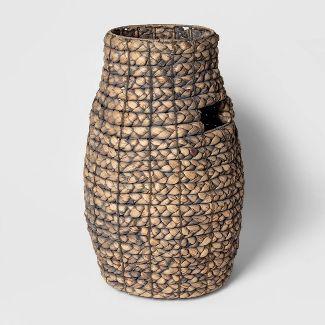 "Decorative Braided Tall Basket Gray 20""x13.3"" - Threshold™"