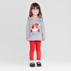 Toddler Girls' Unicorn Cat Top and Leggings Set - Cat & Jack™ Gray/Red