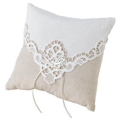 Country Lace Ring Bearer Pillow