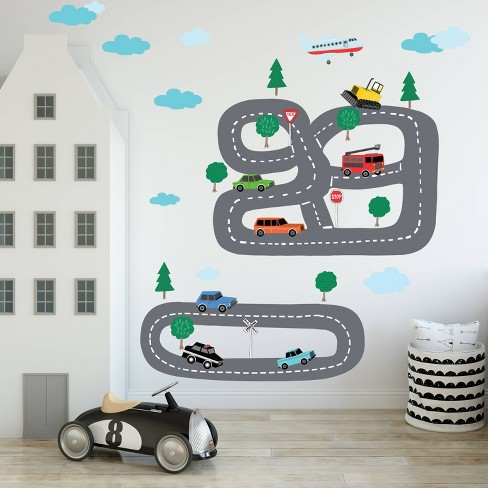Peel Stick Around Town Wall Decal Stickers Wallies