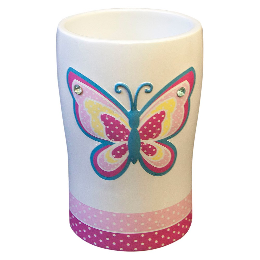 Image of Butterfly Dots Tumbler White/Pink - Homewear