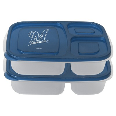 MLB Milwaukee Brewers Boelter Lunch Container - 2pk
