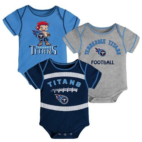 NFL Tennessee Titans Baby Boys' Newest Fan 3pk Bodysuit Set - image 1 of 4
