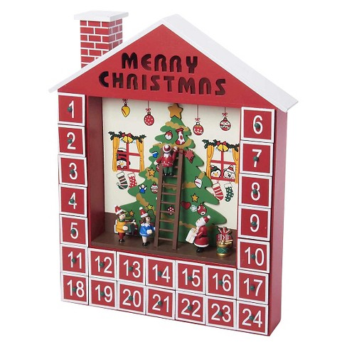 Wooden Advent Christmas Calendar House - image 1 of 1
