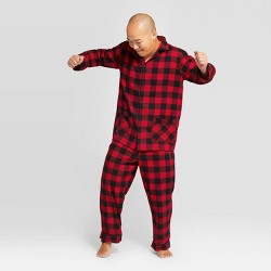 Men's Plaid Holiday Buffalo Check Flannel Pajama Set - Wondershop™ Red