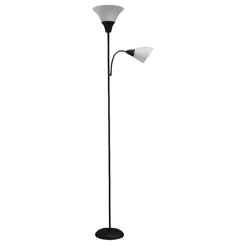 Torchiere With Task Light Floor Lamp Black Room Essentials 8482