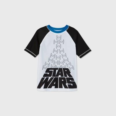 Boys' Star Wars Rash Guard Swim Shirt - Gray
