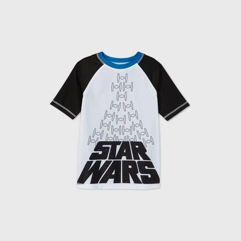 Boys' Star Wars Rash Guard Swim Shirt - Gray - image 1 of 2