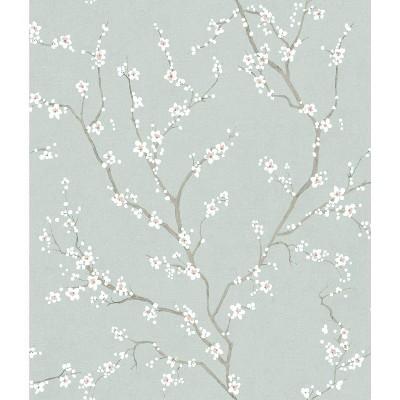 "RoomMates 28.2"" Cherry Blossom P&S Wallpaper Blue"