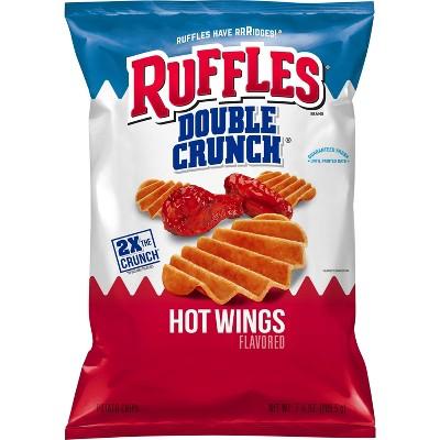 Ruffles Double Crunch Hot Wings Potato Chips - 8.5oz