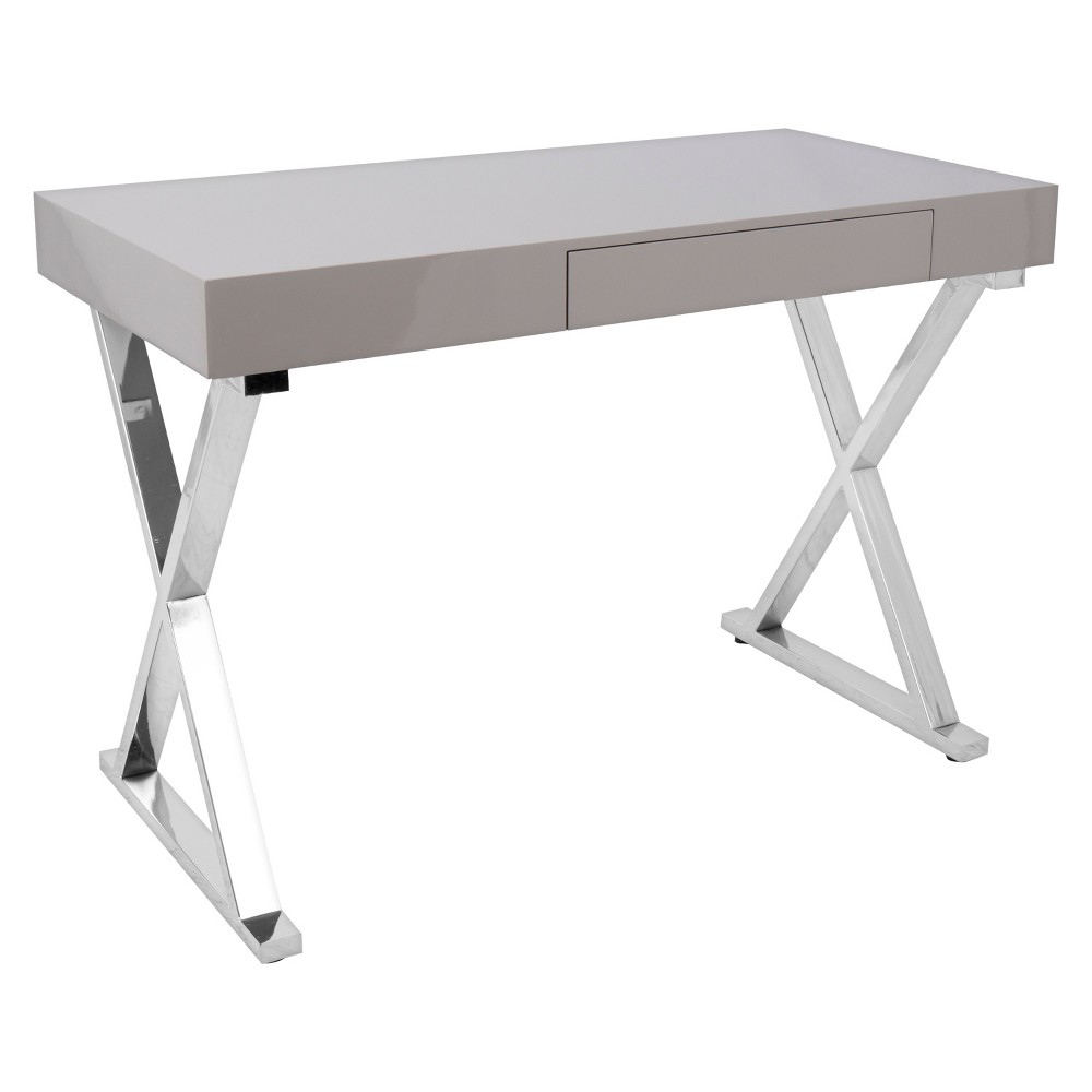 Luster Contemporary Office Desk - Gray - Lumisource