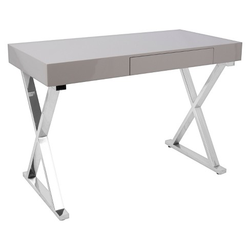 Luster Wood Writing Desk with Drawers - Lumisource - image 1 of 4