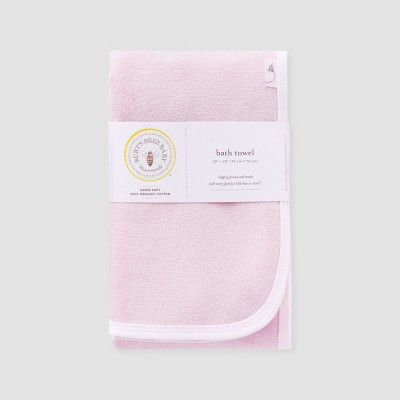 Burt's Bees Baby Girls' Organic Cotton Single Ply Towel - Pink M