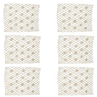 C&F Home Macrame Knot Placemat Set Of 6 : Target