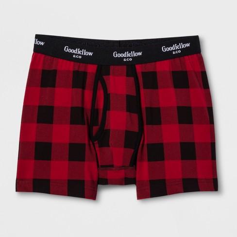 Men s Plaid Boxer Briefs - Goodfellow   Co™ Red Velvet   Target 290c79eb76a8