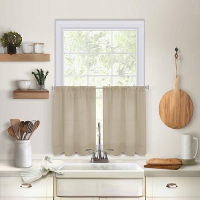 Pintuck Kitchen Window Tier Set of 2 - Elrene Home Fashions