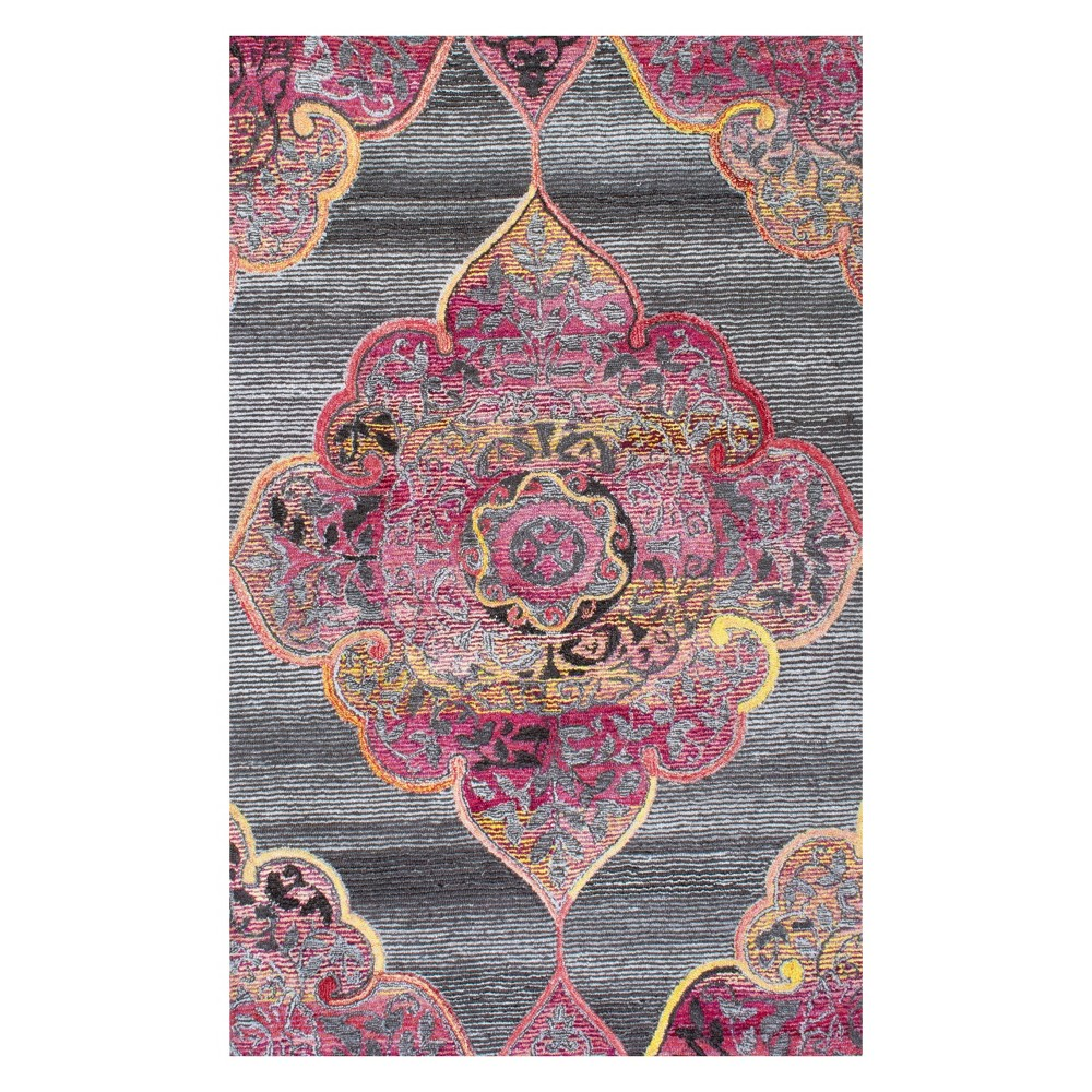 Gray Solid Tufted Area Rug 2'X3' - nuLOOM, Pink