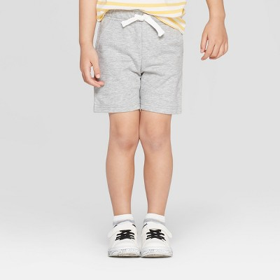 Toddler Boys' Knit Pull-On Shorts - Cat & Jack™ Heather Gray 3T