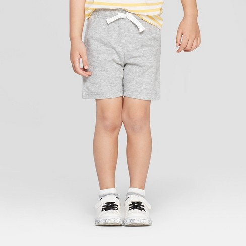 Toddler Boys' Knit Pull-On Shorts - Cat & Jack™ Heather Gray - image 1 of 4