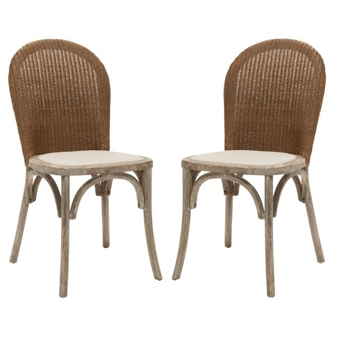 Conner Dining Chair Wood/Beige (Set of 2) - Safavieh® - image 1 of 5