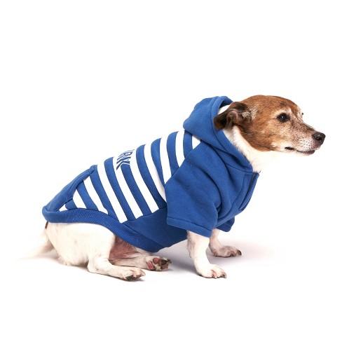 Royal Animals Stripe New York Dog Hoodie - Blue - XS - image 1 of 4