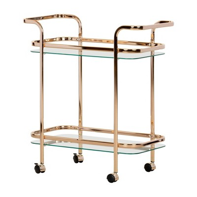 Maliza Bar Cart Gold - South Shore