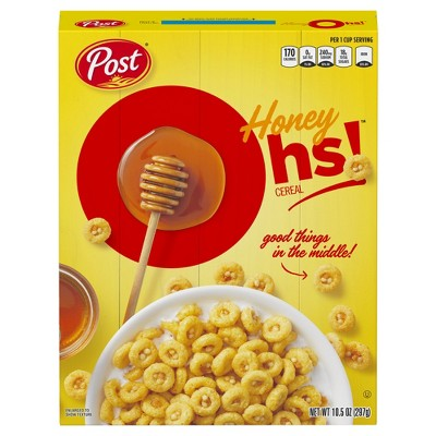 Honey Graham Oh's Breakfast Cereal - 10.5oz - Post