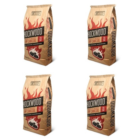 Rockwood 20 Pound All Natural Hardwood Grill Smoker Lump Charcoal Bag (4 Pack) - image 1 of 4