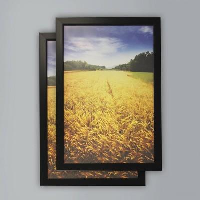 """(Set of 2) 12"""" x 18"""" Poster Frame Black - Room Essentials™"""
