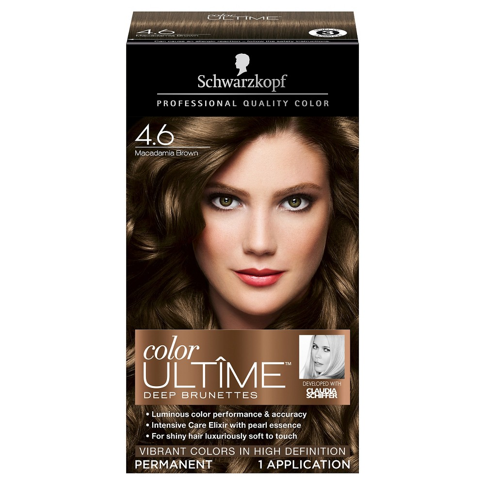 Image of Schwarzkopf Color Ultime Deep Brunettes Hair Color 4.6 Macadamia Brown - 2.03 fl oz