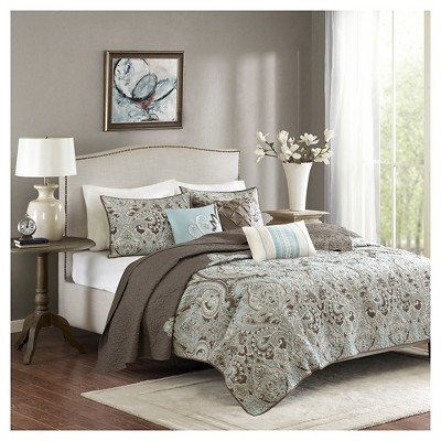 Leona Paisley Quilted Coverlet Set - 6pc