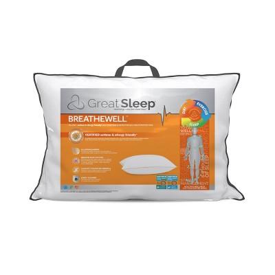 Breathewell AAFA Bed Pillow - Great Sleep