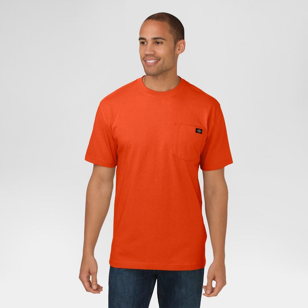 Dickies Men's Big & Tall Cotton Heavyweight Short Sleeve Pocket T-Shirt- Orange Xxxl