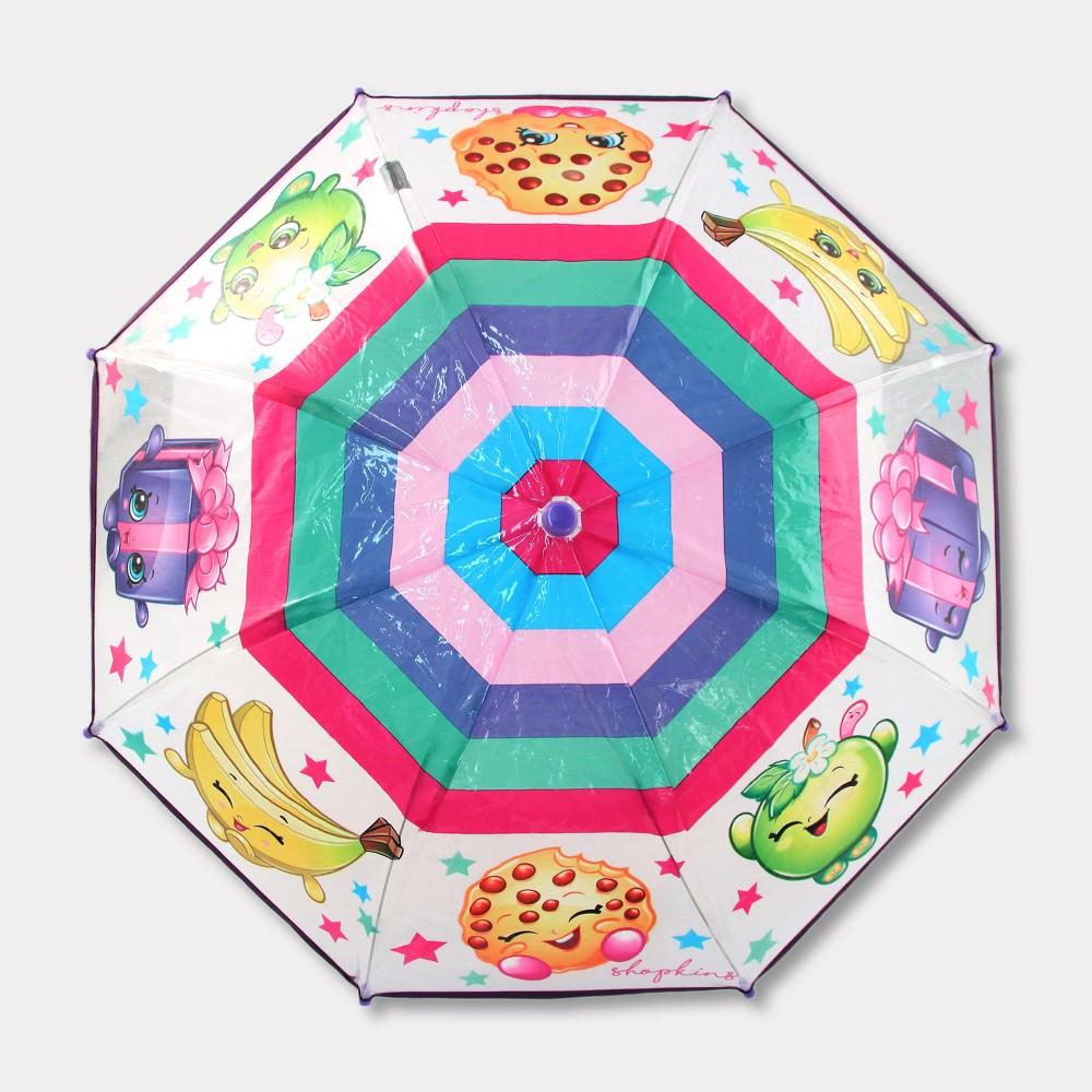 Image of Girls' Shopkins Stick Umbrella, Multi-Colored