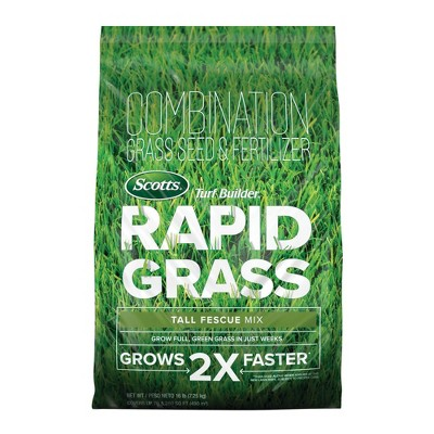 Scotts Turf Builder Rapid Grass Tall Fescue Mix Grass Seeds  - 16lb