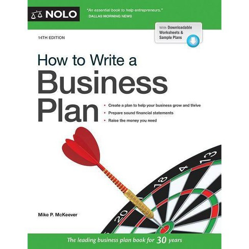 How to Write a Business Plan - 14 Edition by  Mike P McKeever (Paperback) - image 1 of 1
