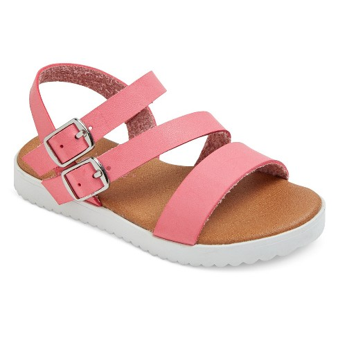 Toddler Girls' Shaya Strappy Footbed Sandals With White Bottom Cat & Jack™ - Pink 6 - image 1 of 3