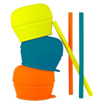 Boon SNUG Straw Lids - Orange