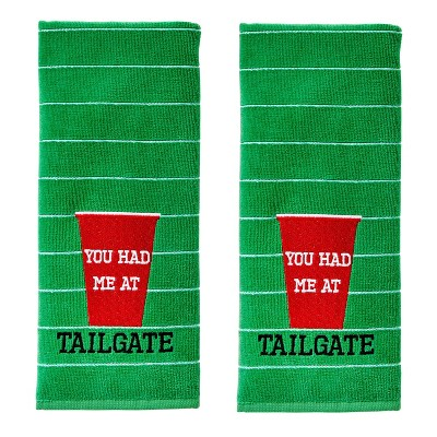 2pk You Had Me At Tailgate Hand Towel Green - SKL Home