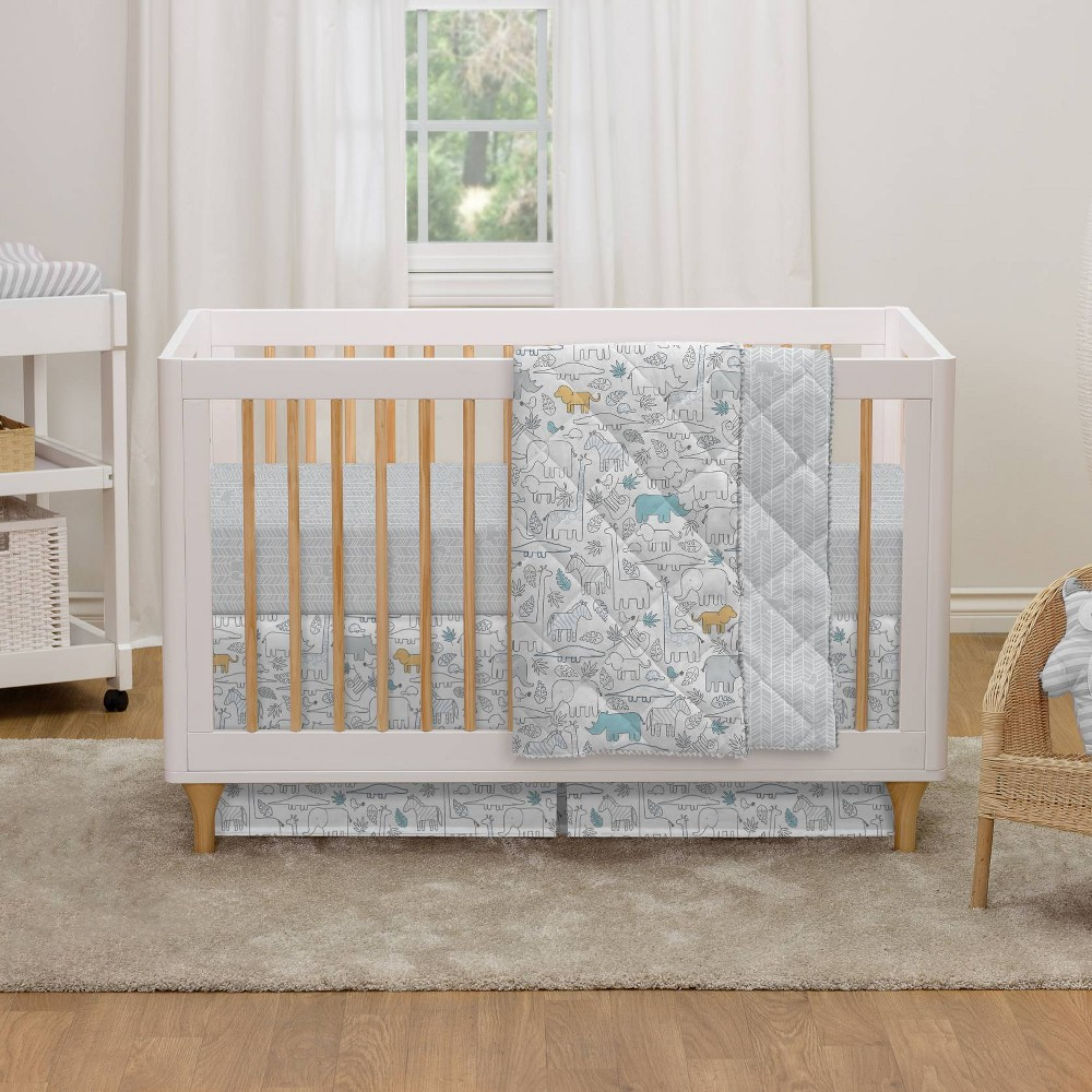 Image of Lolli Living Crib Bedding Set - Safari - 4pc