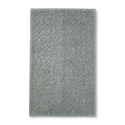 Lattice Bath Mat Cashmere Gray - Fieldcrest®