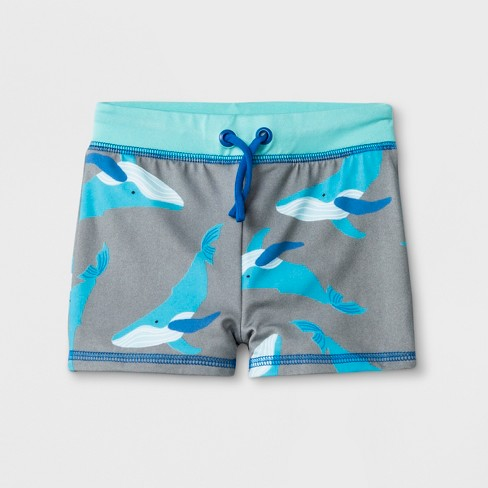 ed5a777d8 Baby Boys' Whale Knit Swim Trunks - Cat & Jack™ Gray : Target